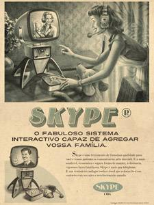 Placa Decorativa Vintage Skype Retro PDV413