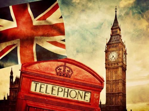 Placa Decorativa Vintage Retro London Telephone PDV133