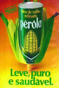 Placas Decorativas Propaganda Antiga Perola Oleo de Milho Vintage PDV425