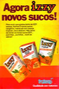 Placas Decorativas Propagandas Antigas Izzy Sucos PDV438