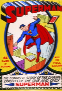 Placa Decorativa Super Man Comic Retro PDV412