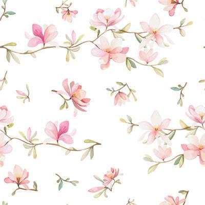 Papel de Parede Flores com fundo claro