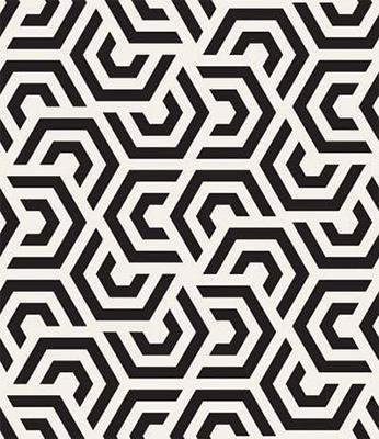 Papel de Parede Geometrico Formas Preto