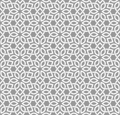 Papel de Parede Forma Flor fundo cinza
