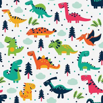 Papel de Parede para quarto de meninos dinossauros