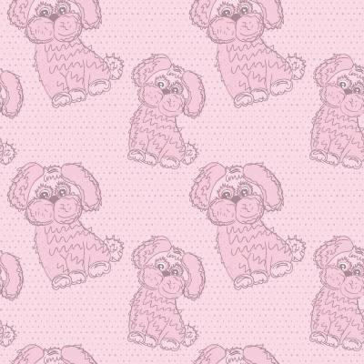 Papel de Parede para meninas cachorrinho rosa