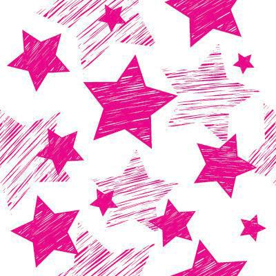 Papel de Parede Estrelas Rosas para quarto meninas