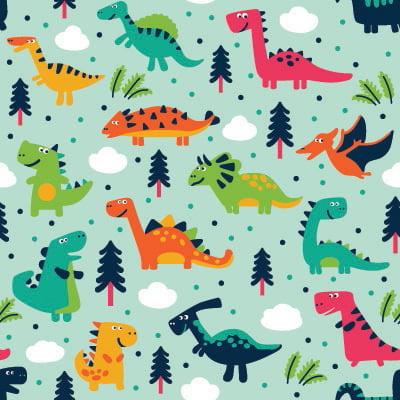 Papel de Parede Dinossauros para quarto de menino