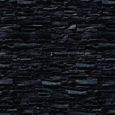 Papel de Parede Pedra Preta Autocolante PD29