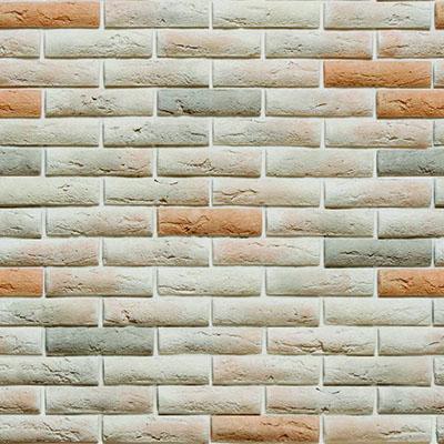 Papel de Parede Tijolo Cinza Laranja Pedras Adesivo Autocolante PD03