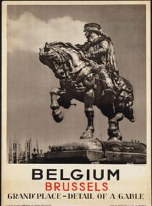 Placa Decorativa Belgica Cartão Postal PDV553