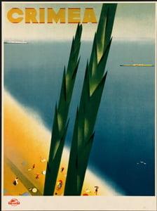 Placa Decorativa Crimea Cartão Postal PDV545