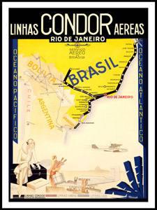 Placa Decorativa Condor Linhas Aereas Brasil Postal PDV570