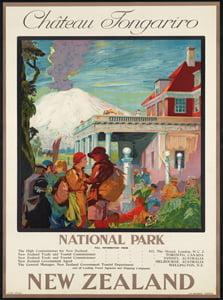 Placa Decorativa Nova Zelandia Cartão Postal PDV546