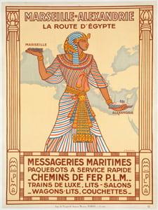 Placa Decorativa Egito Cartão Postal PDV561