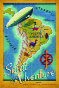 Placa Decorativa America do Sul Spirit of Adventure Cartão Postal PDV542