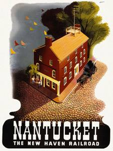 Placa Decorativa Nantucket Cartão Postal PDV575