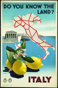 Placa Decorativa Italia Cartão Postal PDV539
