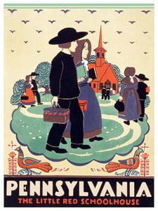 Placa Decorativa Pennsylvania USA Cartão Postal PDV581