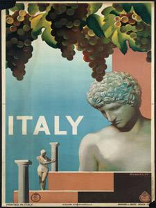 Placa Decorativa Ponto Turistico Italia Cartão Postal PDV557