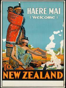 Placa Decorativa Nova Zelandia Cartão Postal PDV563