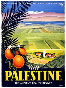 Placa Decorativa Palestina Cartão Postal PDV591