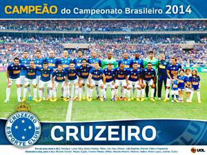 Placa Decorativa Cruzeiro 2014 PDV463