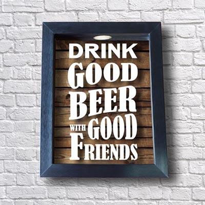 Quadro Tampinhas - Good Beer