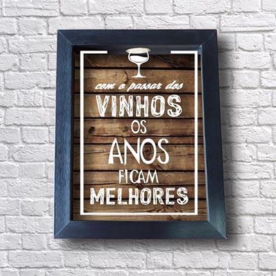 Quadro Rolhas de Vinho - Com o passar dos vinhos