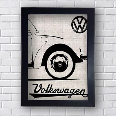 Quadro Carro Vintage Volkswagem