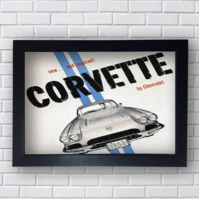 Quadro Vintage Corvette