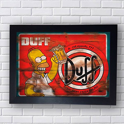 Quadro Duff Homer