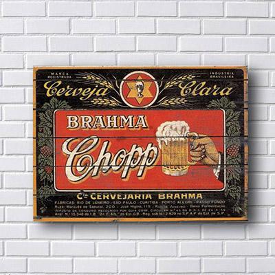 Quadro Brahma Chopp Retro