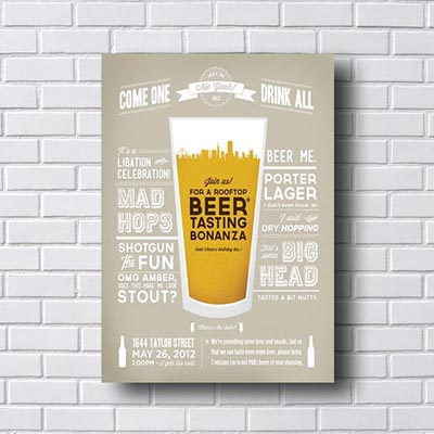 Quadro Decorativo Beer Tasting