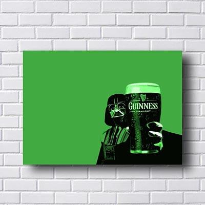 Quadro Decorativo Guinness Darth Vader