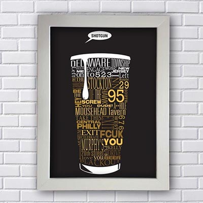 Quadro Decorativo Shotgun Beer