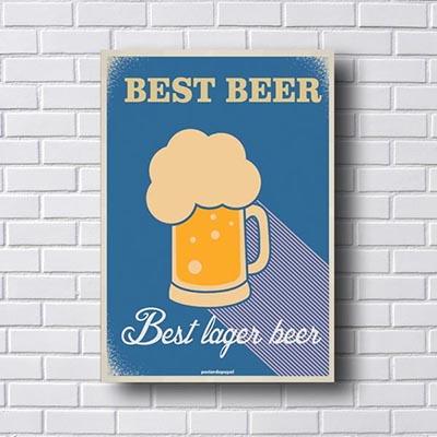 Quadro Vintage Best Beer