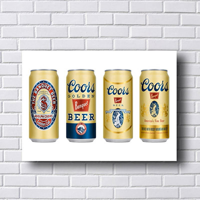 Quadro Vintage Coors Golden Beer