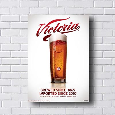 Quadro Vintage Victoria Beer