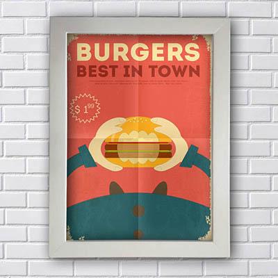 Quadro Decorativo Burgers Best In Town