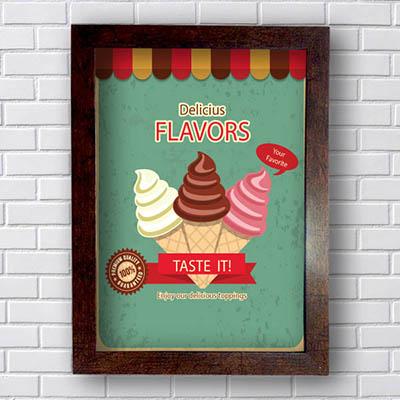 Quadro Decorativo Delicius Flavors