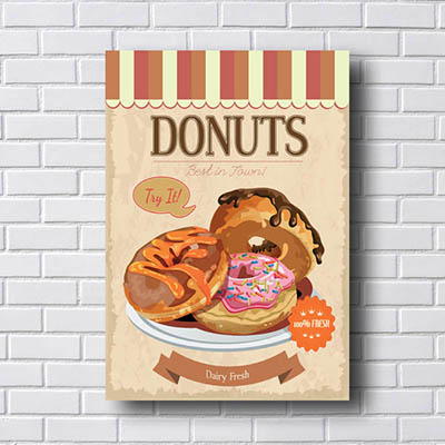 Quadro Decorativo Donuts