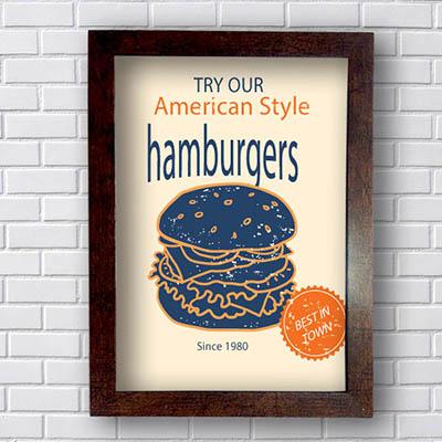 Quadro Retro Hamburgers