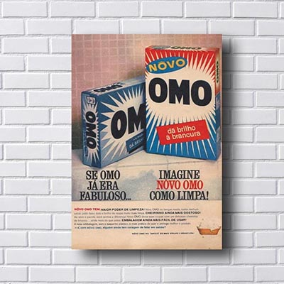 Quadro Vintage Omo Retro