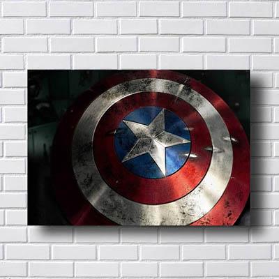 Quadro Escudo Capitão América