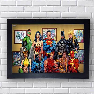 Quadro Liga da Justiça Quadrinhos