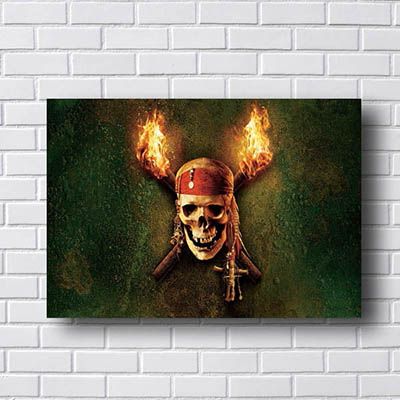 Quadro PIratas do Caribe Logo
