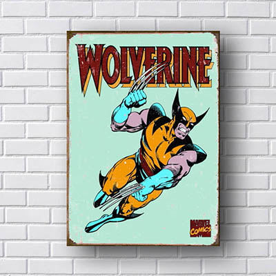 Quadro Wolverine Quadrinhos