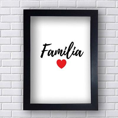 Quadro  Decorativo Familia