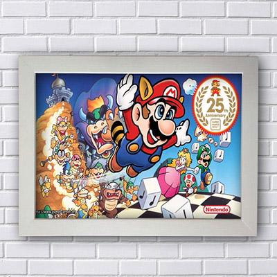 Quadro Super Mario 25 Anos